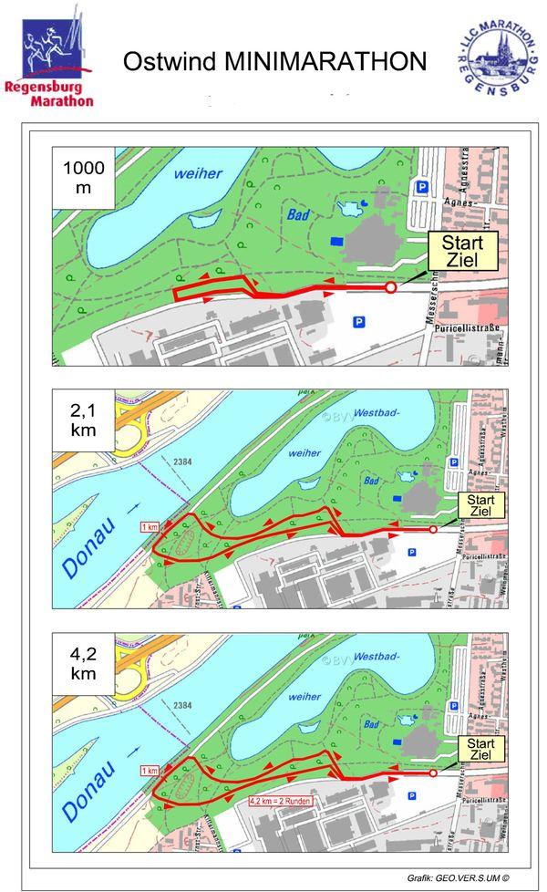 Regensburg Marathon Strecke